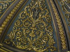 Cathedral ornamentation, carved and overlaid in gold leaf.  Mdina, Malta.