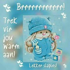 Goeie Nag, Goeie More, Afrikaans Quotes, Good Night Quotes, Special Quotes, Cartoon Drawings, Good Morning, Smurfs, Birthday Cards