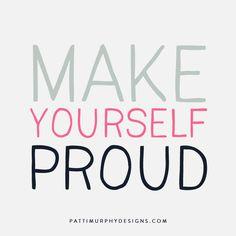 Make yourself proud! #Fitgirlcode #fitspiration #motivation