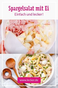 Aufs Köstlichste reduziert: So lieben wir unseren Spargelsalat! Was nicht fehlen darf? Ei, Kochschinken und Schnittlauch! #rezept #kochen #einfach #spargelsalat #spargel #spargelrezept #salatrezept #lowcarb #einfach #einfachersalat #kochschinken #eier #weißerspargel Quick Healthy Lunch, Healthy Drinks, Healthy Recipes, Ranch Dressing, Soul Food, Pasta Salad, Potato Salad, Food Porn, Food And Drink