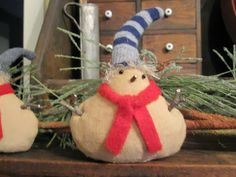 Little snow baby, on sale now on Green Creek Primitives blog