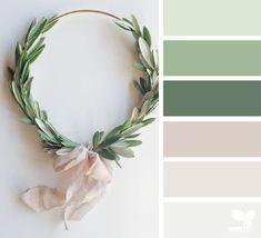 Design Seeds + Color Atlas by Archroma® Green Color Schemes, Green Colour Palette, House Color Schemes, Bedroom Color Schemes, House Colors, Green Colors, Color Combinations, Christmas Colour Schemes, Interior Colour Schemes