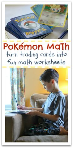 pokemon educational activity// adapt for older kids by having them multiply or divide, or have to find a way to use order of operation to get a certain number ?