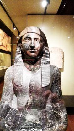 Estatua del rey Nectanebo I, detalle. King Nectanebo I, detail