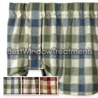Plymouth Plaid Tie Up Valance Top Window Treatments