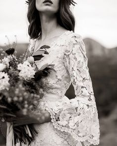 """Kite and Butterfly on Instagram: """"On those sunshine spring and summer days🌿intimate weddings, botanical lace dresses and a bouquet of wildflowers make the perfect day…"""" Bohemian Wedding Dresses, Boho Bride, Wedding Gowns, Wedding Attire, Lace Wedding, Brides And Bridesmaids, Bridesmaid Dresses, Butterfly Wedding Dress, Long Sleeve Wedding"""