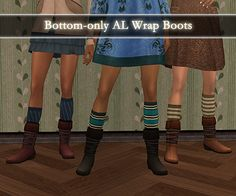 Bottom-only AL Wrap Boots and Sentate Military boots