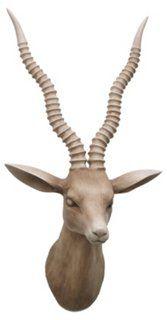 Antelope Head Wall Decor, Natural