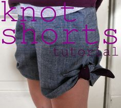 Today I'm so excited to share with you Meg  of Elsie Marley 's super adorable knot shorts tutorial!  (Today's featured pattern after intro )...