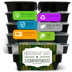 Meal Prep Lunch Box Container (set of 10) Get one on amazon today http://www.amazon.com/Lunch-Bento-Food-Storage-Container/dp/B00W7DZRXI