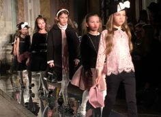 Front Row at Monnalisa Kids Fall Winter 2016 Fashion Show | Dashin Fashion
