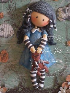 Cold porcelain boneca