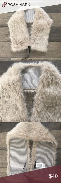 Banana Republic Faux Fur Stole Scarf Collar Wrap New without tags this is a classy addition to your winter wardrobe Banana Republic Accessories Scarves & Wraps