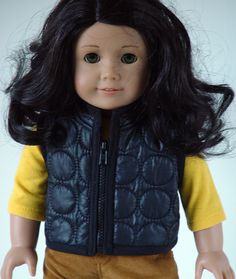 American Girl Doll Clothes -- Quilted Vest -- 1 Piece Outfit (1-32). $12.00, via Etsy.