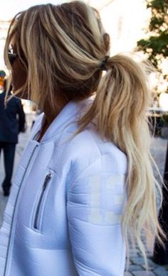 Please someone show me the secret to messy ponytails.