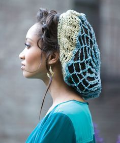 """Glitz n' Glamour crochet snood from Red Heart. The pattern is free and listed as """"easy""""."""