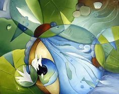 Images For > Beautiful Dragonfly Painting