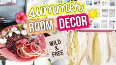 DIY SUMMER ROOM DECOR ✂ Urban Outfitters Inspired | LaurDIY - Banner, Lace and Ribbon Garland, Jewelry Trays
