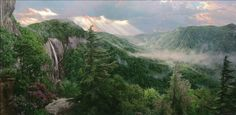 Phillip Philbeck Sunset Over the Gorge Giclee on Canvas Thomas Kinkade, 49er, Original Paintings, Fantasy, Fine Art, Art Prints, Mountains, Sunset, Landscape