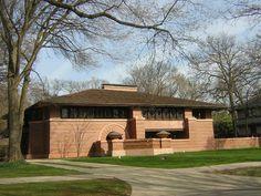 Arthur Heurtley House, 318 Forest Avenue, Oak Park, Illinois 60302 Built 1902 designed by Frank Lloyd Wright