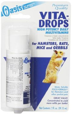 No matter what kind of super spiffy pet products you need, we've got you covered.  Here we have: a high potency daily multivitamin for your hamster, rat, mouse, or gerbil!