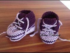 Háčkované detské tenisky - ako uháčkovať detské topánočky - VIDEO Ako sa to robí.sk Crochet Shoes, Crochet Baby Booties, Crochet Bebe, Working With Children, Baby Knitting, Adidas Sneakers, Baby Shoes, Booty, Handmade