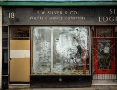Silver and Edgington ghost sign, Cornwall, UK