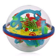 YKLWorld Newest Fun 3D Maze Ball Intellect Magic Ball Children Kid Educational Toys Baby Puzzle Games Toy (random color) -48