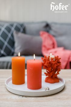 Pillar Candles, Home, Ad Home, Homes, Haus, Candles, Houses