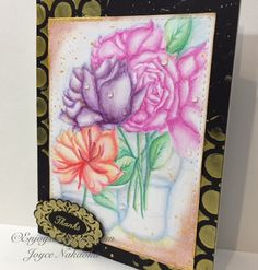 Aloha Guys! This is Joyce from http://enjoyscrappin2.com and today I have a No-line watercolored card using Art GRIP� Aquarelle Watercolor Pencils. I personally love to watercolor and these watercolor pencils are by far my favorite. The colors are very vivid, intense and they blend out completely. These pencils are Waterproof,...