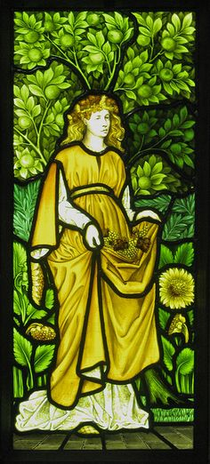 William Morris Four Seasons Windows by Thorskegga, via Flickr