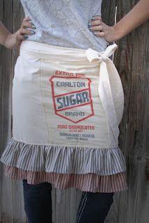 Sugar Sack Apron!  BEAUTIFUL!