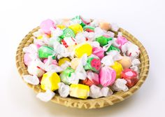 Charleston's Own Salt Water Taffy. A Lowcountry Summer at the beach is not complete without some taffy Salt Water Taffy, Specialty Foods, Key Lime, Teacher Appreciation, Charleston, Peppermint, Watermelon, Strawberry, Peach