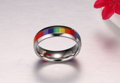 Pride Bracelet, Lgbt Couples, Oval Rings, Rainbow Pride, Gay Pride, Silver Plate, Wedding Bands, Jewlery, Jewelry Accessories