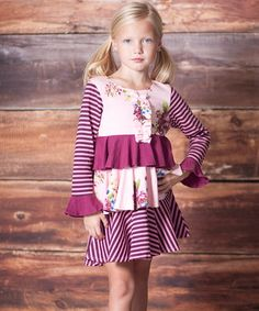 Rose Garden Tiered Party Dress - Infant, Toddler & Girls #zulily #zulilyfinds