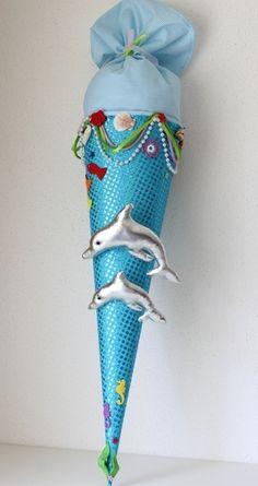 """Schultüten - Schultüte, Zuckertüte """"Delfine"""" - ein Designerstück von Anastasiyas-Stoffmaerchen bei DaWanda"""