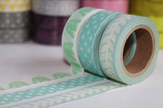 3 Rolls Japanese Washi Tape Set - Masking Tape - Paper Tape - Deco Tape - Filofax - Gift Packing - WTS4006