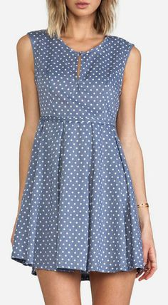 MINKPINK Country Girl Dress in French Blue