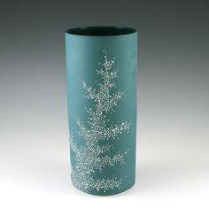 Tall Porcelain Pebble Vase in Aqua. LOVE LOVE LOVE