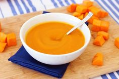 Ginger Butternut Squash Soup – 5 Ingredients, 30 Minutes, Only 110 calories!
