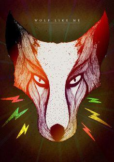 Wolf like me by Dylan Wyndham Jones, via Behance Like Me, Moose Art, Wolf, Behance, Illustrations, Animals, Image, Animales, Animaux