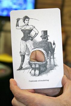 funny! this card w/a hole cut out & you put your bent finger (knuckle) behind it. hahaha!