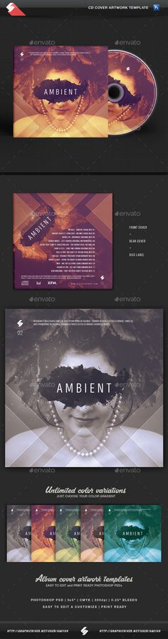 Ambient - CD Cover Artwork Template PSD. Download here: http://graphicriver.net/item/ambient-cd-cover-artwork-template/15395677?ref=ksioks