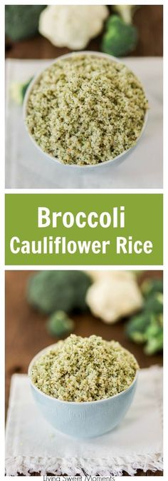 This addicting Broccoli Cauliflower Rice recipe requires only 4 ingredients and is so easy to make. Enjoy a low carb side dish that's ready in 20 minutes! More low-carb, paleo recipes at livingsweetmoments.com via @Livingsmoments