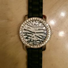 Selling this Zebra print watch in my Poshmark closet! My username is: katherine_higg. #shopmycloset #poshmark #fashion #shopping #style #forsale #Accessories