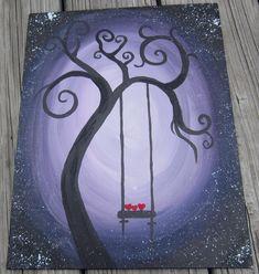 Simple Acrylic Paintings for Beginners | How To Paint An Easy Acrylic Painting For Beginners-small-purple.jpg