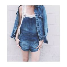 Shapeless Denim One Piece via the babes at @freepeoplewickerpark ✌