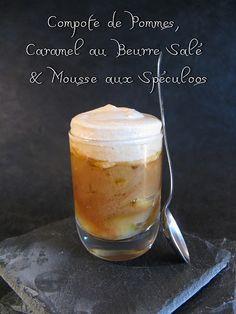 Compote de Pommes, Caramel au Beurre Salé  Mousse aux Spéculoos