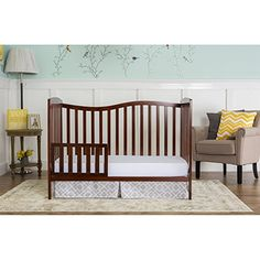 Dream On Me Chelsea Convertible Crib (Assembly Required), Green pine Furniture Deals, Bed Furniture, Furniture Outlet, Online Furniture, Nursery Furniture, Toddler Furniture, Convertible Crib, Headboard And Footboard, Baby Cribs