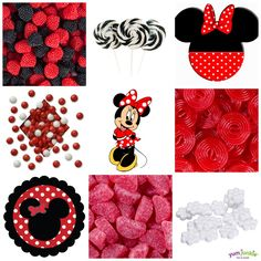 Minnie Mouse Themed Candy Buffet from http://www.SweetCityCandy.com